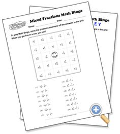 ... Math games on Pinterest | Fractions, Perimeter worksheets and Bingo