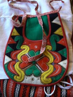 "The bag (10""x8"") belonging to a  hand made girl´s folk dress from Leksand, Dalarna. Made circa 1990. Entire costume set selling on ebay for $319."