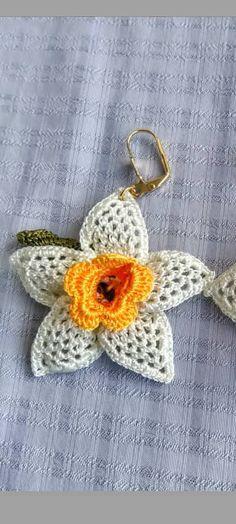 Elsa, Crochet Earrings, Chokers, Pattern, Jewelry, Crochet Roses, Crochet Accessories, Stud Earrings, Tejidos