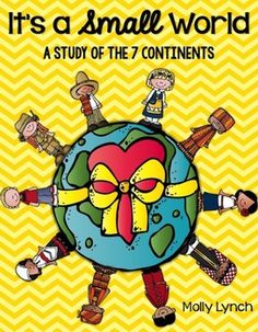Exploring the 7 Continents has never been more exciting! It's a Small World Continent Study is filled with over 35 activities to help your students gain a greater understanding of the seven continents.    This 120+ page unit is filled with great resources, posters, printables, activities and projects that will open your students to a whole new world!