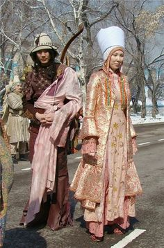 Казахское народное женское платье