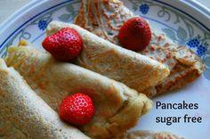 Pancakes sugar free recipe #healthydesserts