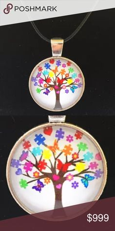 Coming soon! Autism necklace. NWT Autism awareness jigsaw piece tree Jewelry Necklaces