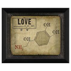 Love Molecule Framed Graphic Art & Reviews   Joss & Main