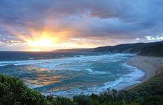 #Beauty of #nature: Sunset at Johanna beach, Great ocean road, Australia.