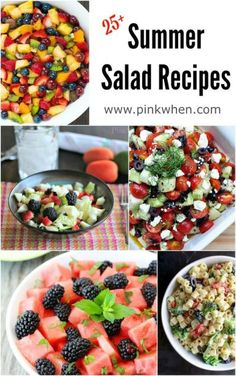 Light and delicious salads, perfect for Summer! Lots of flavor and healthy for you, too.
