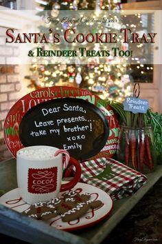 Santa's Cookie Tray | FrugElegance | www.frugelegance.com