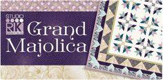 Robert Kaufman Fabrics: Grand Majolica: Cotton Quilting Fabric