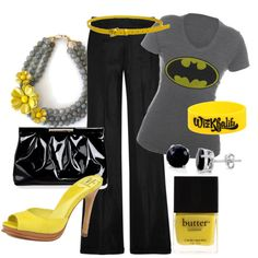 """I'd wear this-even the yellow polish with a black bat on my middle finger so I can flip the """"bat signal!"""""""