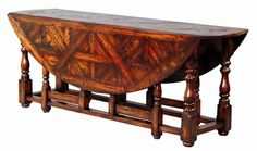 Tavern Table - Parquet Top  A traditional gate leg tavern table . Its great oval shape and baluster turned legs are its most distinguishing features ItemID #: 28726QC  Dimensions: 30 x 59 x 81