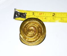 gold snail knob handle cabinet pull swirl #Unbranded
