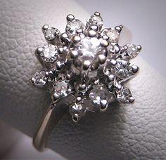 Antique Diamond Wedding Ring Vintage Art Deco W. Gold via Etsy