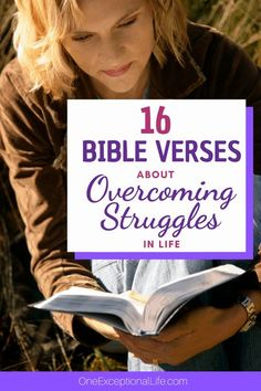 Does God cause our struggles? Answer found within these great Bible verses about overcoming struggles. Great for Bible studies for women to gain spiritual growth and Biblical encouragement. #christianlife #growyourfaith #overcomingobstacles #growclosetoGod #oneexceptionallife