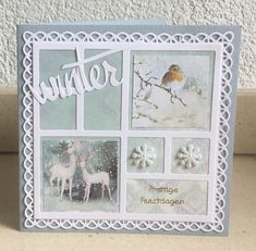 Marianne Design, Paper Cards, Collages, Christmas Cards, Frame, Decor, Montages, Christmas Greetings Cards, Decoration