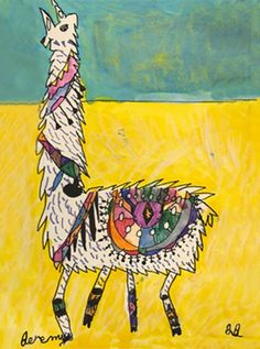 This Llama Drawing Project from Small Hands Big Art is a great elementary art project! They are sassy and whimsical and colorful!
