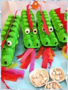 Recycling Crafts with Egg Carton 42 creative and environmentally friendly ideas – Basteln mit Kindern - DIY and crafts Kids Crafts, New Year's Crafts, Summer Crafts, Preschool Crafts, Projects For Kids, Diy For Kids, Diy And Crafts, Craft Projects, Recycled Crafts For Kids