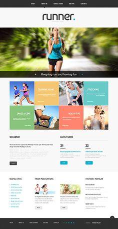 Template 48625 - Runner Running Club Responsive Website Template