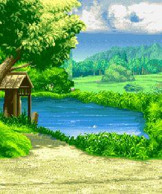 gif pixel art pixels pixel gif pixel scenery Far East of Eden: Kabuki Klash