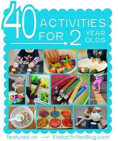 40 activities for 2 year olds