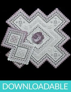 Rose Doily in Hardanger Embroidery and Cross Stitch (downloadable PDF)