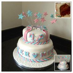 Gender cake taart roze blauw verrassing jongen meisje