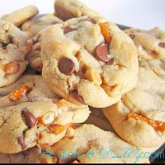 Salted Carmel Pretzel Chocolate Chip Cookies :)
