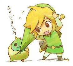 Link and Makar from Legend of Zelda: Windwaker