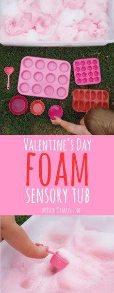 Valentine's Day Foam Sensory Tub – The Paige Diaries