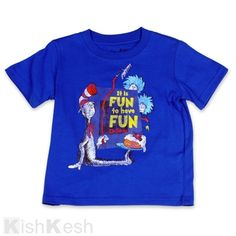 "The Cat in the Hat, Thing One and Thing Two ""It's Fun to Have Fun"" Boys T-Shirt. #DrSeuss #BoysClothing"