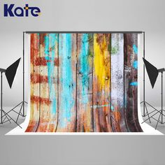 10x20FT Kate Newborn Colorful Old Wood Photography Backdrops Retro Style Background Children Backdrops Photo Studio #Affiliate