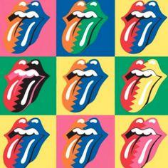 Rolling Stones (Pop Art) by Celebrity Image Andy Warhol Pop Art, Andy Warhol Obra, Richard Hamilton, Pop Art Images, Bing Images, Rolling Stones Logo, Serato Dj, Pop Art Illustration, Culture Pop