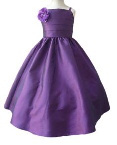 Purple flower girl dress - see more at http://themerrybride.org/2014/06/24/black-white-and-purple-wedding/