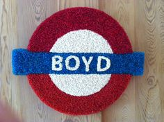 """Boyd likes underground signs"" in beads"