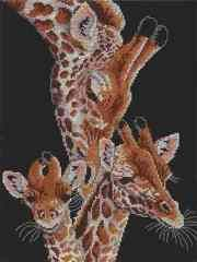 Cross stitch giraffes that I want to eventually get the pattern for to make.