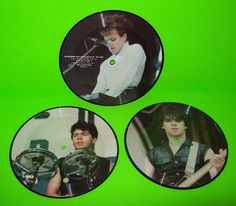 """THE CURE SET OF 3 VINTAGE PICTURE DISC 7"""" VINYL RECORDS TALKIES CURE-1 INTERVIEW #TheCure ##PostPunkRecords.com #DarkWave"""