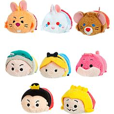 Alice in Wonderland Tsum Tsum plushies. These are the only Tsum Tsums I would consider buying. In fact, it's going to be pretty hard to resist the Dormouse...