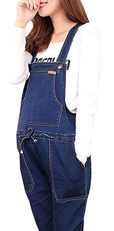 c3d4152bf82d Foucome Women s Maternity Overalls Denim Plus Size Jumpsu... Plus Size  Jumpsuit