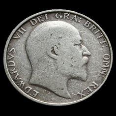 1904 Edward VII Silver Shilling – Rare – A/F