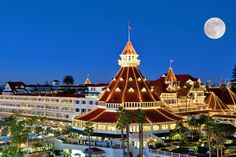 The historic and stunning Hotel Del Coronado is just across the bay from San Diego. If you look closely, you can see the San Diego skyline in the distance!