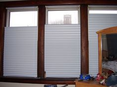 diy instructable how-to for top-down blinds made from mini-blind and temp shade