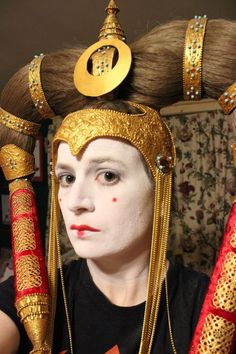 Queen Amidala, Headdress, Concept Art, Cosplay, Costumes, Artwork, How To Wear, Star Wars, Makeup
