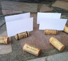 Wine Cork Place Card Holders Set of 25 for Weddings or Parties. $15.00, via Etsy.