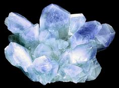 Celestite crystals in cluster from the La Luz Mine, Villa de La Paz, San Luis Potosi, Mexico