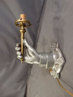 Gothic Medieval Look Metal Electric Light ~ Wall Sconce, Looks like 2 Torches Gothic Galor ...
