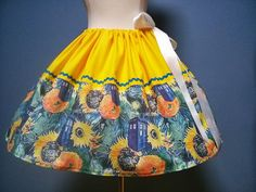 Dr. Who Tardis SkirtSunflowery Wonderfully by TootSweetSkirts