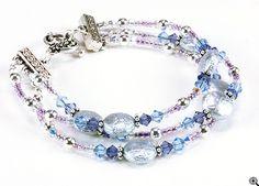 Jewelry Making Idea: Silver Moonlight Bracelet (eebeads.com)