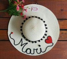 9463a179fc64b 60 melhores imagens de Chapéu de praia personalizado feitos por mim ...