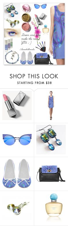 """""""Green and blue make the new YOU  ;)"""" by annabellerockz ❤ liked on Polyvore featuring Burberry, Fendi, Prova, Oscar de la Renta, outfit, Beauty and jewels"""