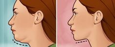 The Best Exercises For Getting Rid Of That Unwanted Double Chin & Neck Fat - Miss Healthy & Fit Me Perder 10 Kg, Reduce Double Chin, Double Chin Exercises, Face Exercises, How To Get Rid, Easy Workouts, Excercise, Back Pain, Health And Beauty