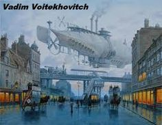 Punking The Past: The Steampunk Aesthetic Of Victorian London In Superb Paintings Of Vadim Voitekhovitch Steampunk Kunst, Steampunk Airship, Steampunk Fashion, Fashion Goth, Steampunk Artwork, Steampunk Wallpaper, Steampunk Drawing, Gothic Steampunk, Steampunk Clothing